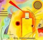 Kandisky detalle de una de sus composiciones con amarillo