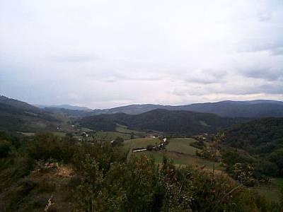 Viscarret vistas sobre el camino a Zubiri